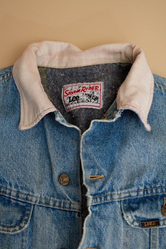 1970's Lee Storm Rider Blanket Lined Denim Jacket - image 3