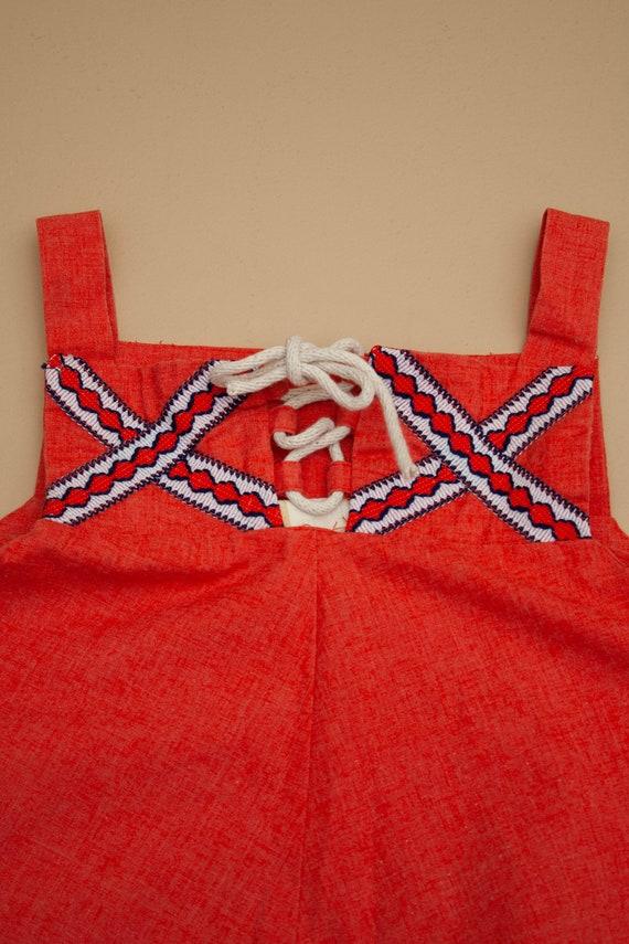 1970's Cotton Summer Midi Dress - image 2