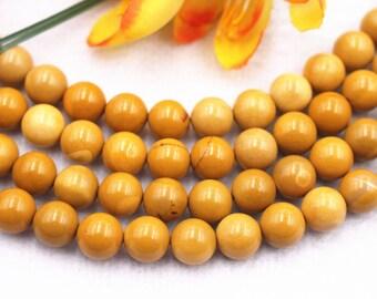 African Yellow Jasper Coin Beads 26pcs