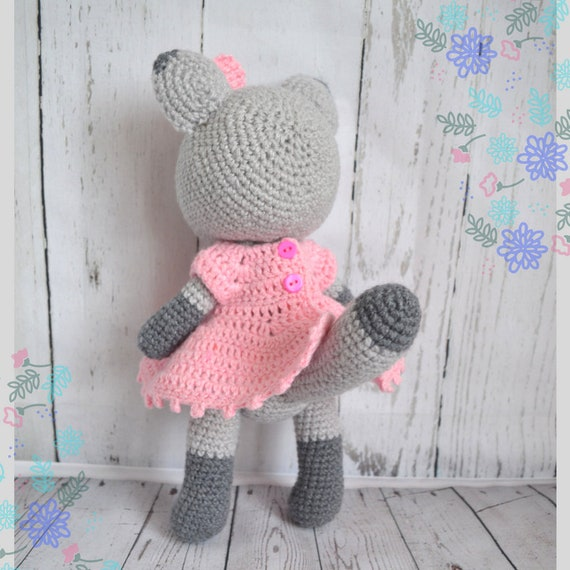 Ravelry: Lace and Pearls Dress for Kitty Cat pattern by Angela ... | 570x570