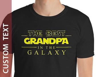 62080f90a Grandpa shirt, Grandpa Gift, The Best Grandpa in The Galaxy, Grandpa  Fathers Day Gift, Grandpa Birthday Gift, Custom personalized Shirt