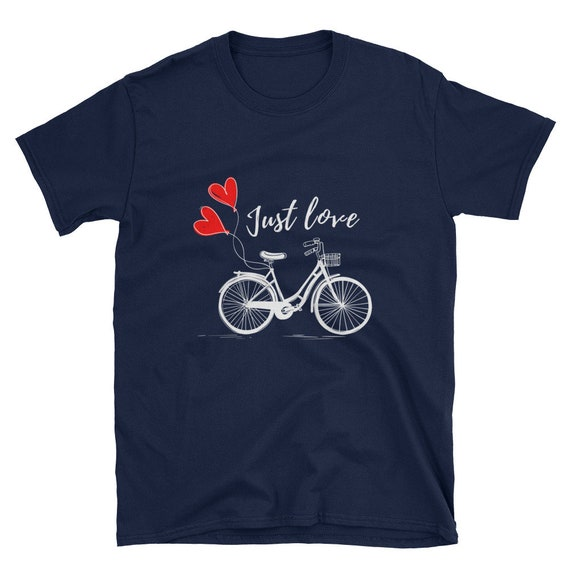 Adore le T Shirt, chemise de vélo, motivation, chemise drôle de Valentin, T - Shirt, T-Shirt motivation, vélo, sur mesure des femmes personnalisé chemise a00b61