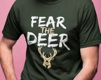 9d1b767c70b FEAR THE DEER Milwaukee Bucks Playoffs shirt Greek Freak Giannis  Antetokounmpo Unisex Ultra Cotton Tee