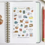 Cozy Comforts Planner Stickers | Single Sticker Sheet or Pack of 2, Bullet Journal Stickers, Organization, Planning, Matte Vinyl Stickers