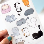 Cat Planner Stickers | Single Sticker Sheet or Pack of 2, Kawaii Cats, Bullet Journal Stickers, Journal, Stationery, Cute Planner Stickers