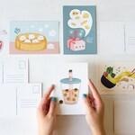 Asian Food 4x6 Postcards & Mini Prints - Choose 1 or Set | Ramen, Boba, Bao, Dumplings, Cute Asian Food, Chinese Food, Postcard Bundle