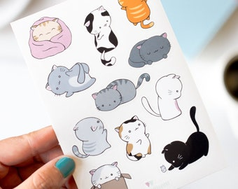 Cat Planner Stickers   Cute Cat Stickers for Planner and Journals