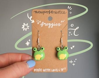 Funky Frog Earrings