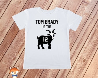 Tom Brady is the GOAT T-Shirt - Patriots Inspired Kids and Toddler Shirt 1431c1f9b