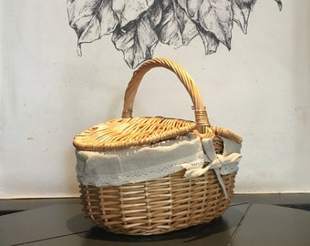 rattan basket small from storage box.htm lidded basket etsy  lidded basket etsy