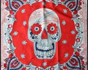 Paisley Skullmore | Skull Scarf, Bandana, Handkerchief