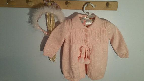 Cherokee Baby Girl Sweater Dress 18M Black Silver Long Sleeve Winter Holiday