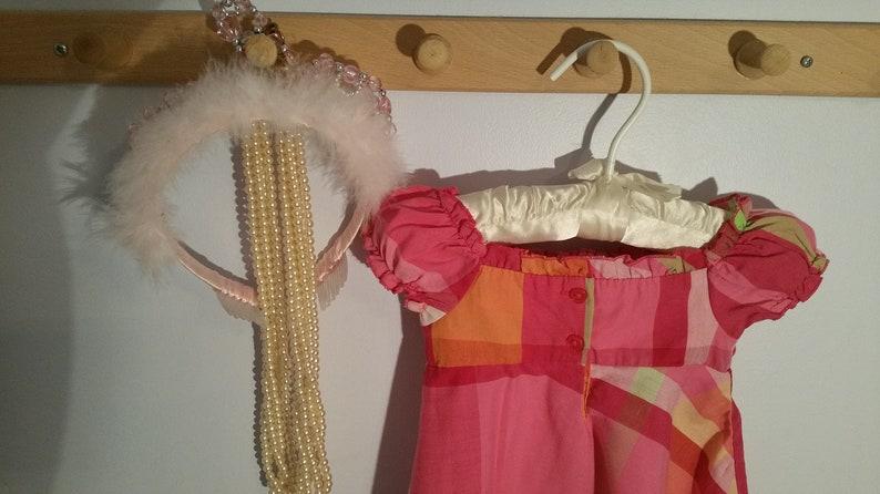 Green Smocking,Sundress,sleeveless,cotton,summer Butterfly Applique Vintage Set of 2 Size 12 Months Summer Dresses Plaid smocking Pink