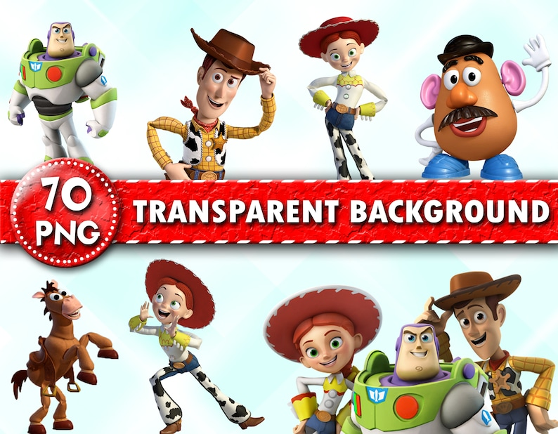 Toy Story Clipart Toy Story Characters PNG Printable Toy ...