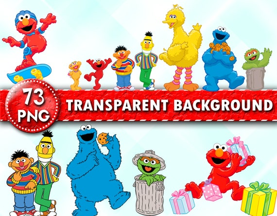 Sesame Street Clipart Sesame Street Png Files Elmo Clipart Sesame Characters Transparent Background Instant Download