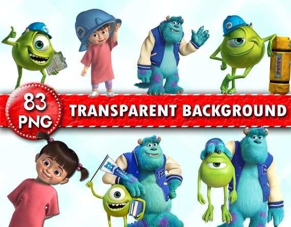 Monsters Univercity Clipart Monsters Inc Png Characters Etsy
