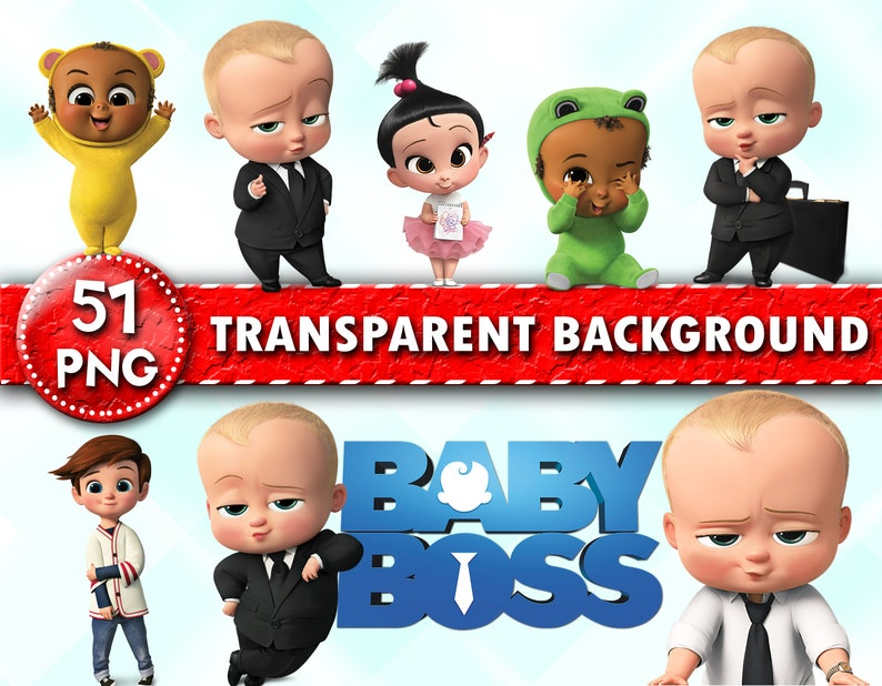 The Boss Baby Clipart Boss Baby Characters Boss Baby Png Files Baby Clipart Transparent Background Instant Download