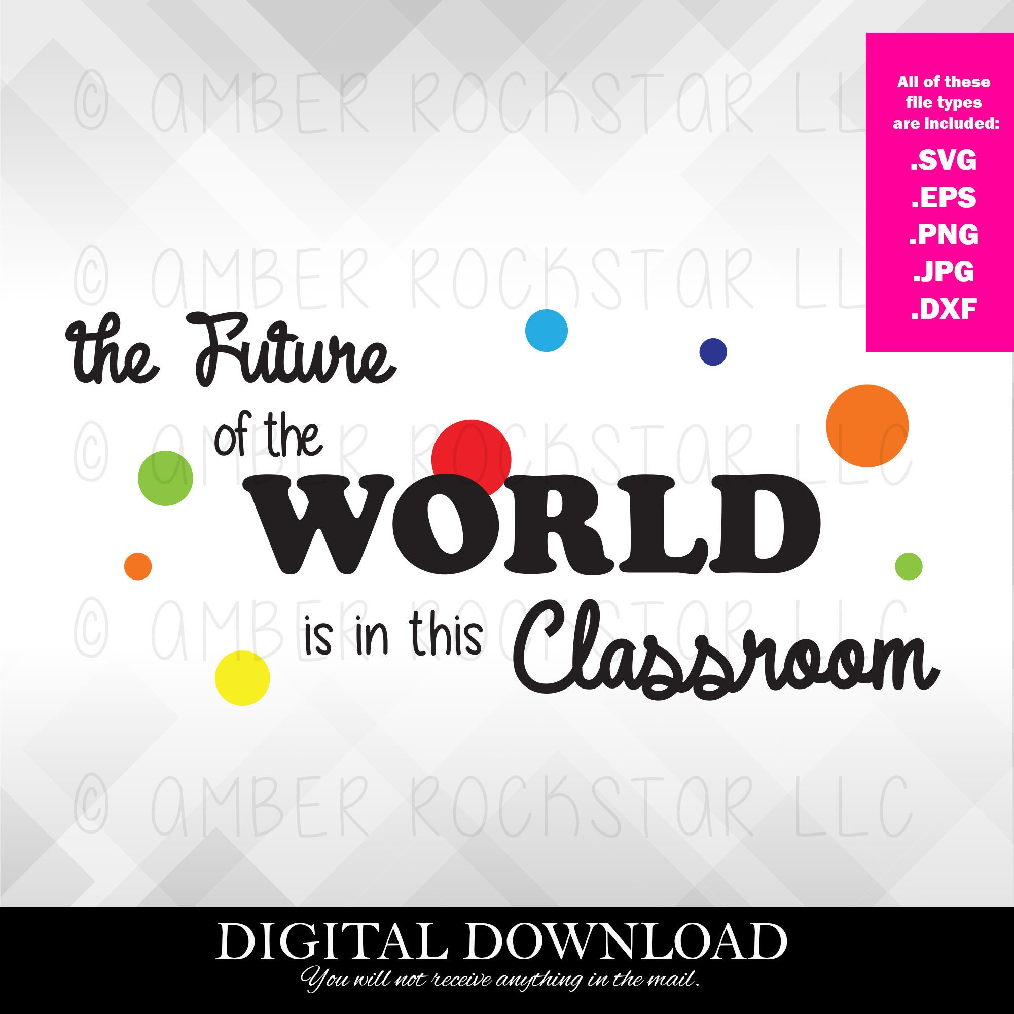 Digital Instant Download - SVG File - Future of the World is in this  Classroom