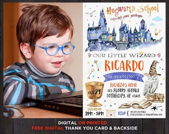 Harry Potter Invite Etsy