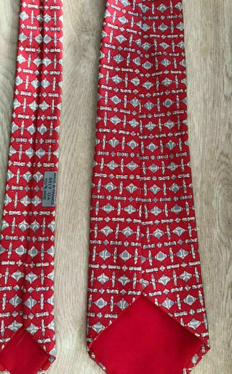 Herm\u00e8s Paris Modern Geom Rare Luxury Tie 100/% Silk 5517 Ua Made In France