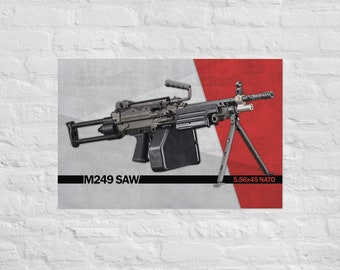 FN M249 SAW Poster