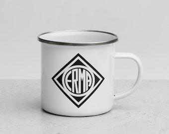 Vintage ERMA Werke Enamel Mug