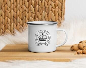 Vintage Royal Enfield Enamel Mug