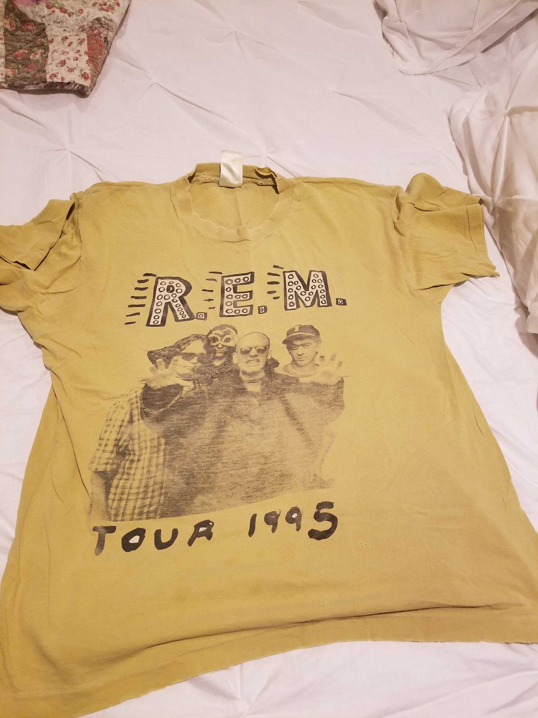 1995 REM World Tour T-Shirt, taille taille T-Shirt, Med 39582b