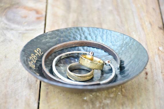 Handmade Wrought Iron Bowls Sixth Wedding Anniversary Candle Etsy