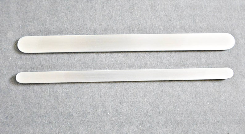 stainless steel flat blank cuff Gauge 12 stainless steel bands for bracelets and plates do it yourself Set 4 or 8 Jewelry making