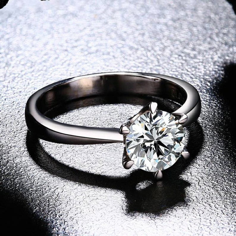 Moissanite Ring Personalized ring Unique Jewelry Wedding ring Engagement ring Vintage Jewelry Birthday gift Promise ring 1ct center stone