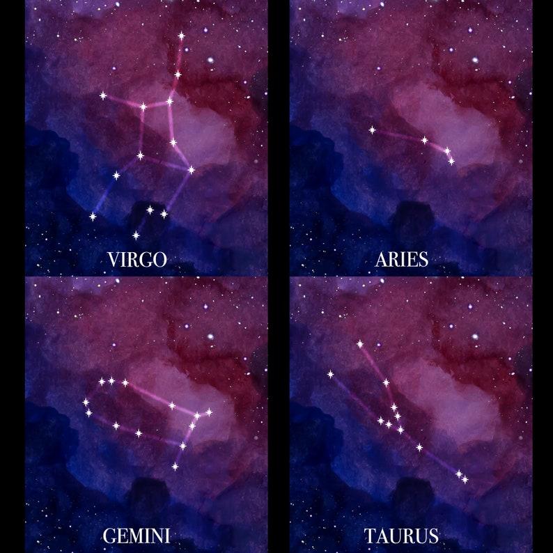 Astrology Space Nebula Plus Size LeggingsFREE U.S.ShippingZodiacHoroscope GiftCustomizable to your astrology constellation