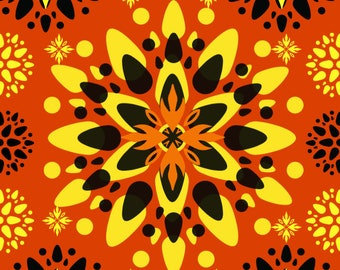 Floral Flower Pattern Design for Wall Decor #2