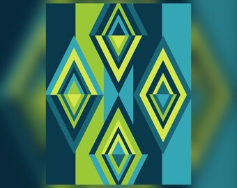 Geometric Abstract Graphic Art Design Triangles Wall Art Print #6