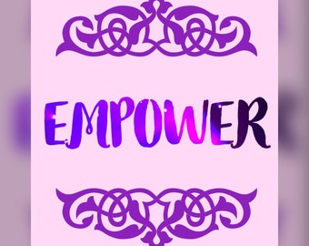 Printable Inspirational word EMPOWER