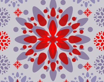 Floral Flower Pattern Design for Wall Decor #8