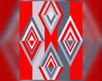 Geometric Abstract Graphic Art Design Triangles Wall Art Print #8