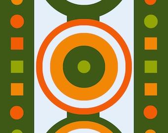 Geometric Abstract Art Design Circles
