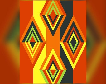 Geometric Abstract Graphic Art Design Triangles Wall Art Print #7