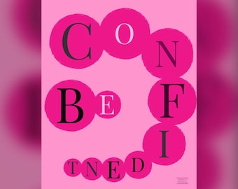 Be Confident Inspirational Printable Quote #1