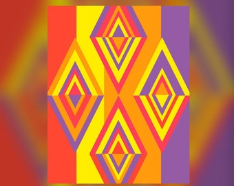 Geometric Abstract Graphic Art Design Triangles Wall Art Print #11