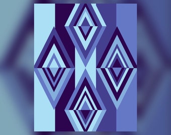 Geometric Abstract Graphic Art Design Triangles Wall Art Print #13