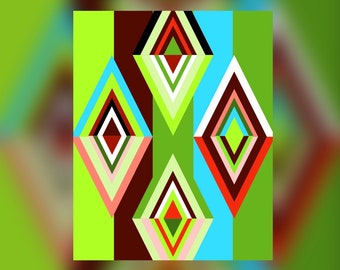 Geometric Abstract Graphic Art Design Triangles Wall Art Print #12