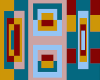 Square Geometric Abstract wall art decor Digital Print #4