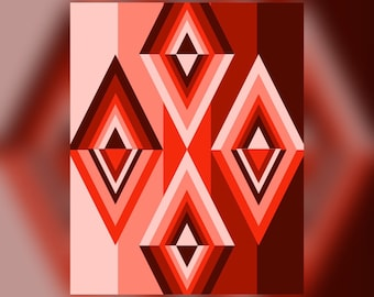 Geometric wall art Abstract Graphic Art Design Triangles Wall Art Print #19