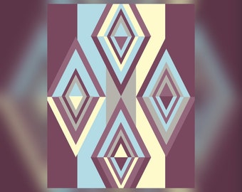Geometric Abstract Graphic Art Design Triangles Wall Art Print #9