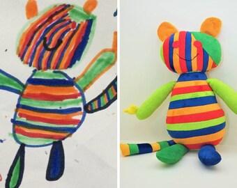 83d69ac8e178 Plush commission custom stuffed animal monkey with banana and mango