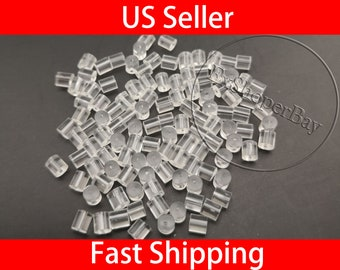 Nuts Ear Back Plugs Safety Earring Silicone Clear Stoppers 500Pcs Post Soft
