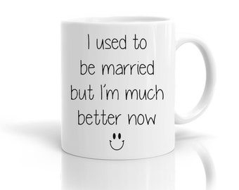 Funny Novelty Mugs Survived A Divorce Gift Present Joke Quote Cup Tea Mug