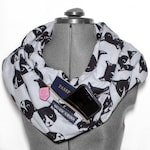 Monochrome Cats Flannel Infinity Scarf with Hidden Pocket — Pockets Against the Patriarchy Feminist Accessories — Free US Shipping!